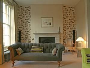 papeles pintados sofá